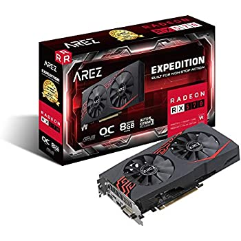 ASUS Expedition Radeon RX 570 8GB OC Edition Gaming GDDR5 DP HDMI DVI VR Ready AMD Graphics Card (EX-RX570-O8G)