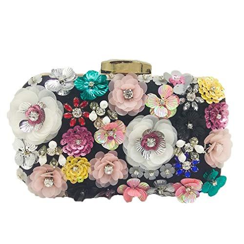 Bag In Da Fiore Black Flower Sera Donna Borse w7q4T0ZT