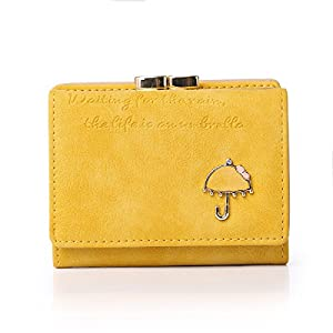 APHISON RFID Women's Nubuck Leather Wallet Card Holder Cute Small Coin Purse for Lady Kiss Lock Closure/Gift for Girls