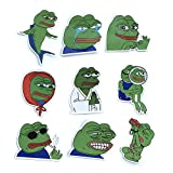 17 Pcs/Pack Sad Frog Frog Pepe Stickers for Laptop