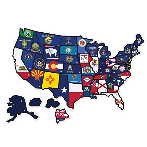 State Flag Travel Map Decal Sticker 21