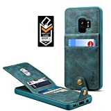 Samsung Galaxy S9 Wallet Case for Galaxy S9 Credit Card Case Spaysi Galaxy S9 Leather Wallet Case for S9 Magnetic Closure Kickstand Gift Box (Blue)