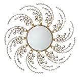 Metal Wall Accent,Decorative Starburst Mirror,Sunburst Shape 28''inch(circle) MD106…
