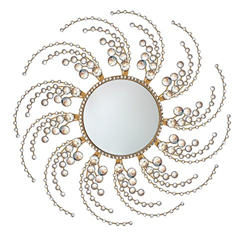 Metal Wall Accent,Decorative Starburst Mirror,Sunburst