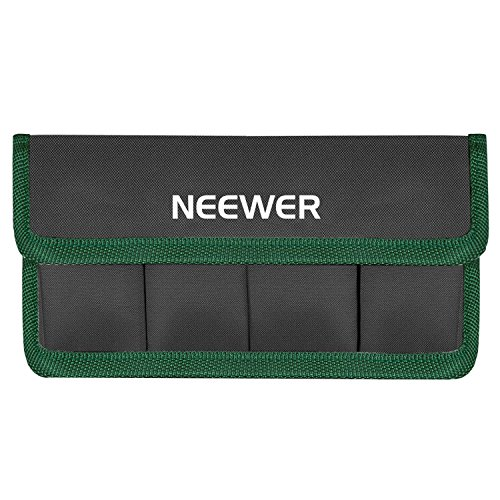 Neewer DSLR Battery Bag Holder Case for AA Battery and lp-e6 lp-e8 lp-e10 lp-e12 en-el14 en-el15 fw50 f550 and More, Suitable for Battery of Nikon D800 Canon 5DMKIII Sony A77(Green)