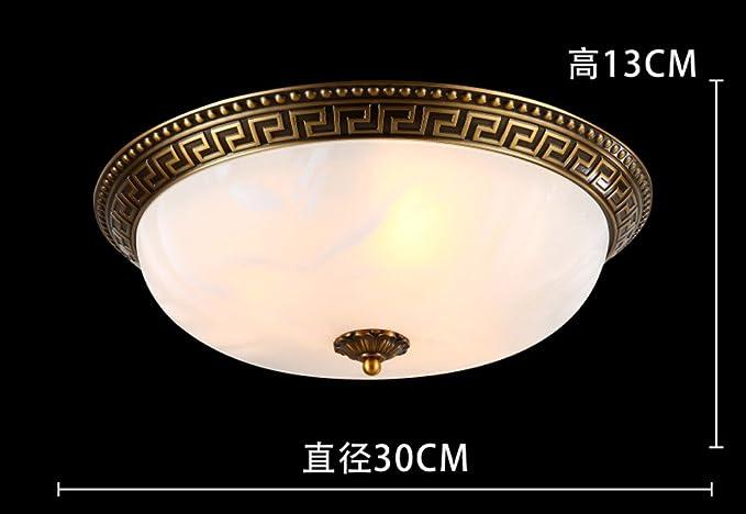 Lámpara de techo de cobre tipo europeo completo American ...