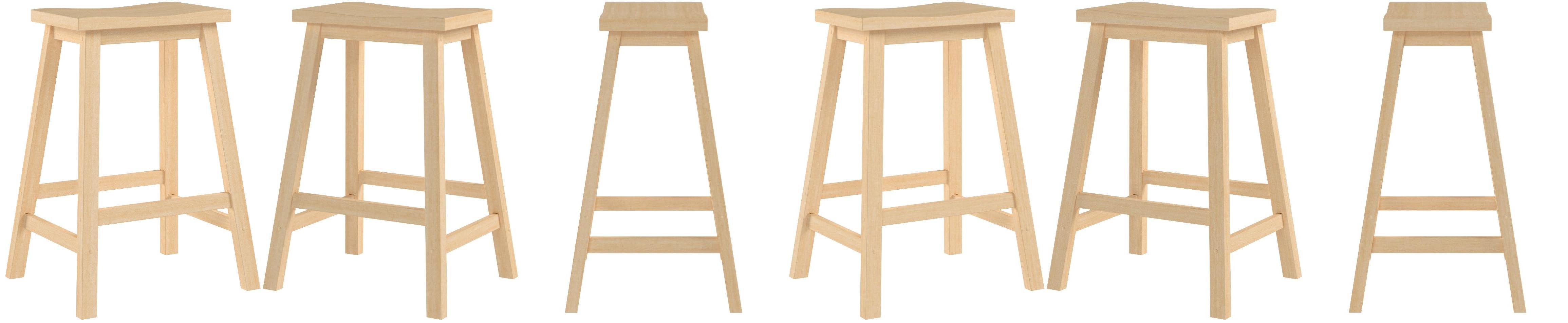 Amazon Com Winsome Satori Stool 24 Natural Furniture Decor