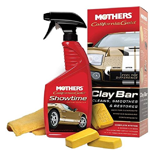 Mothers 07240-6 California Gold Clay Bar System (Pack of 6)