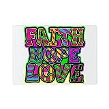 Glass Cutting Board Faith Hope Love Neon