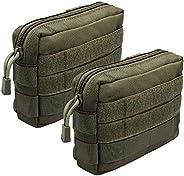 XTACER Tactical MOLLE Modular Small Utility Pouch EDC Bag Waist Pouches