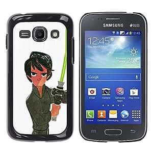 Ihec Tech Espacio Luz Blanca Saber Han película Sci Fi / Funda Case back Cover guard / for Samsung Galaxy Ace 3