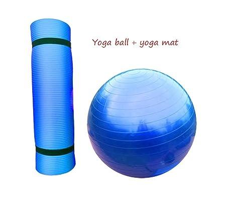 HCJYJQ GUORONG Yoga Ball + Yoga Mat, niño Adulto Gym Ball ...