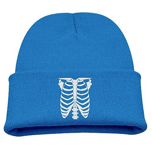 Child's Beanie Hat Slouchy Beanie Winter Halloween Skeleton Glow in The Dark Woolen Cap Cap CapsBeanies RoyalBlue -