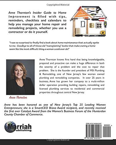 Anne thorntons insiders guide to home improvement professional anne thorntons insiders guide to home improvement professional tips to maintain your home anne thornton 9781546642497 amazon books solutioingenieria Images