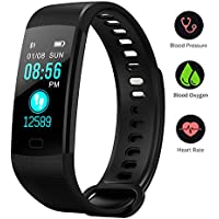 BONNIEWAN Fitness Tracker with Heart Rate Color Screen...