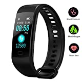 BONNIEWAN Fitness tracker with heart rate color screen activity tracker and blood pressure monitor, IP67 waterproof sleep monitor, calorie counter pedometer 4 sport mode for Kids Women Men