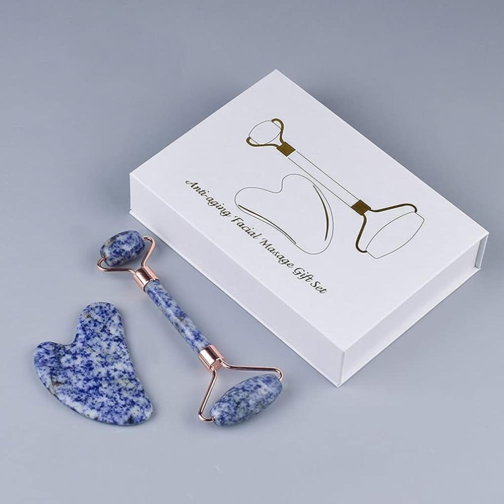 Natural Blue Gemstone - Guasha Scraping Set