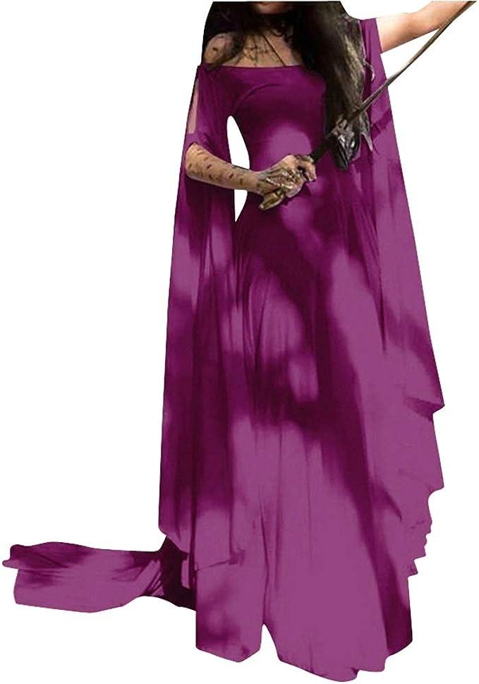 AnyuA Trajes Disfraz de Medieval Mujer Vestidos Goticos Disfraces ...