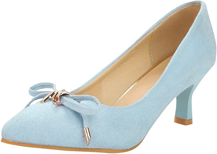 Mee Shoes Womens Sexy Kitten-Heel Bows