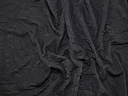 63d4d67c587 Image Unavailable. Image not available for. Color: Crinkle Circle Texture Stretch  Jersey Knit Dress Fabric Black ...