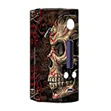 Skin Decal Vinyl Wrap for Wismec Reuleaux RX200 Vape Mod Skins Stickers Cover / Wicked Evil Tribal Skull Tattoo