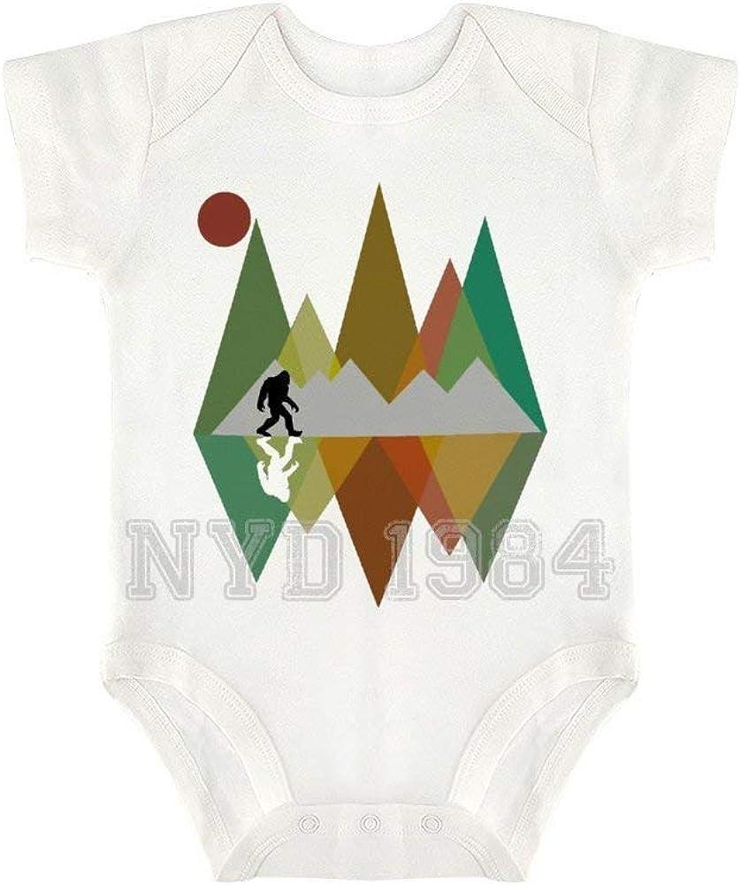 Mountains Bigfoot Sun Romper Clothes Outfit Newborn Infant Baby Bodysuit Jumpsuit 100/% Cotton