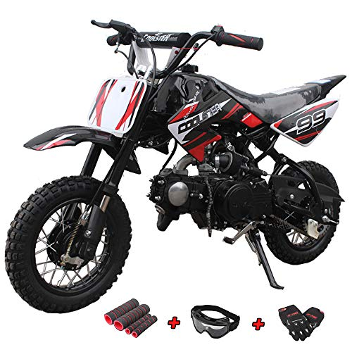 X-Pro 70cc Dirt Bike Pit Bike Kids Dirt Pit Bike 70cc Child Dirt Bike Dirt Pitbike with Gloves, Goggle and Handgrip ()