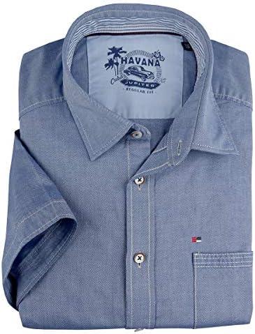 Jupiter Camisa de Manga Corta Azul Textura Fina Tallas ...