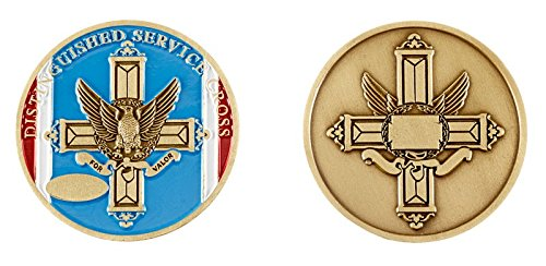 Distinguished Service Cross Medal Ribbon Challenge Coin