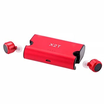 GEZICHTA Auriculares Bluetooth X2T Mini Invisible Truly Wireless Bluetooth V4.2 estéreo Surround Sound Earbuds