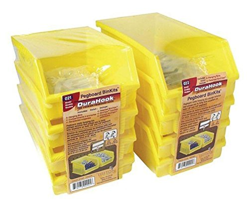 Triton Products 028 Bin Kits for Pegboard Storage, Yellow, 8-Pieces Triton Products Bin Kit