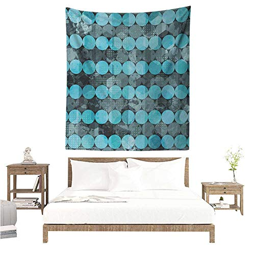 Agoza Grunge Wall Tapestry Contemporary Art Inspiration with Dots in Cold Colors Freezing Cool Winter Ice Tapestry for Home Decor 57W x 74L INCH Pale Blue ()
