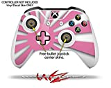Rising Sun Japanese Flag Pink - Decal Style Skin Set fits XBOX One S Console and 2 Controllers (XBOX SYSTEM SOLD SEPARATELY)