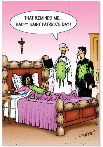 5319 'St Patty Barf' - Funny St. Patrick's Day Greeting Card with 5