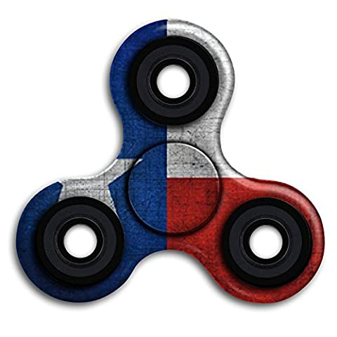 LOVEQIXI Texas State Flag Vintage Tri-spinner Fidget Toy Cool Portable 360 Triangle Finger Spinner Stress Reducer Anti-anxiety With Mental Bearing For Relieves ADD ADHD Autism Adult (The Texas Triangle)