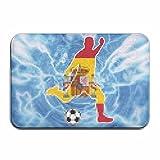 Inside & Outside Entrance Custom Doormat Spain Flag Soccer Player Design Pattern For Kitchen Dining