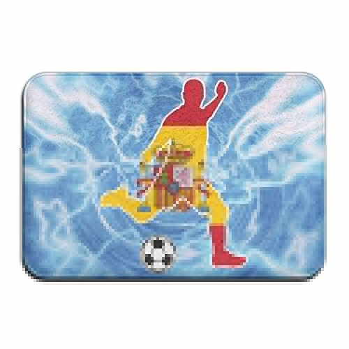 Inside & Outside Entrance Custom Doormat Spain Flag Soccer Player Design Pattern For Kitchen Dining by Fuucc-6