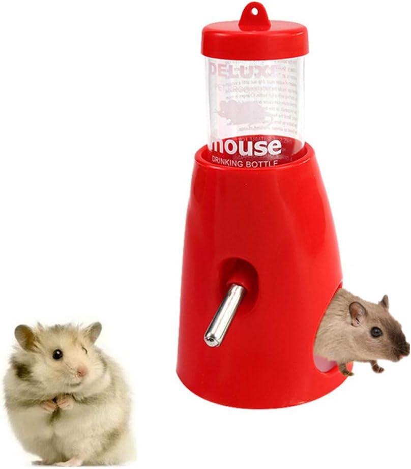 Rysmliuhan Shop Bebedero Hamster Bebedero Cobaya Pet dispensador de Agua Conejo alimentador de Agua Caja de Perro Botella de Agua