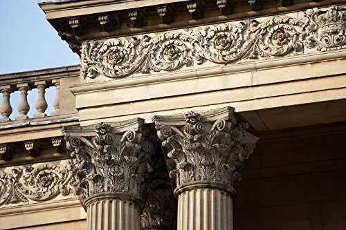 Home Comforts Canvas Print Entablature Corinthian Columns Balusters Stretched Canvas 10 x 14