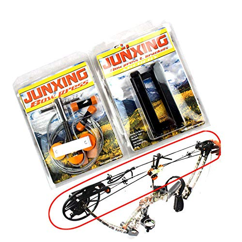 Zsling Hand Held Portable Bow Press and Quad Brackets for Compound Bow Hunting Archery (Portable Bow Press For Past Parallel Limbs)