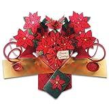SECOND NATURE POP UPS - C-001 - POINSETTIAS - Christmas Card