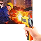 Handheld Non-Contact Digital Laser IR Infrared Thermometer Temperature Gun -58℉ - 626℉ for Kitchen Cooking BBQ Automotive Industrial,Accuracy Reading HD Backlit LCD Display,FDA Approved