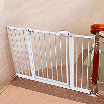 Infant Child Safety Gate Baby Stair Barrier Extending Metal Safety Gate Pet  Dog Fence Pole Isolation