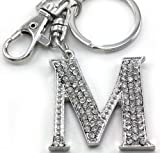 Mother's Day Gift & Valentine's Day Gift & Wedding Gift Initial Name Letter M Keychain Key Ring Charm