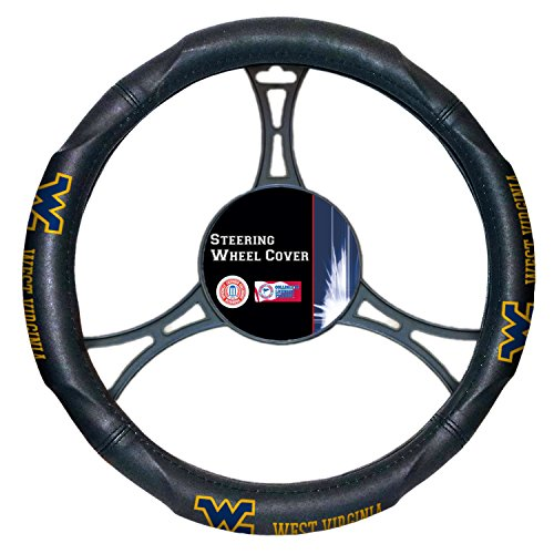 (Officially Licensed NCAA West Virginia Mountaineers Steering Wheel Cover)