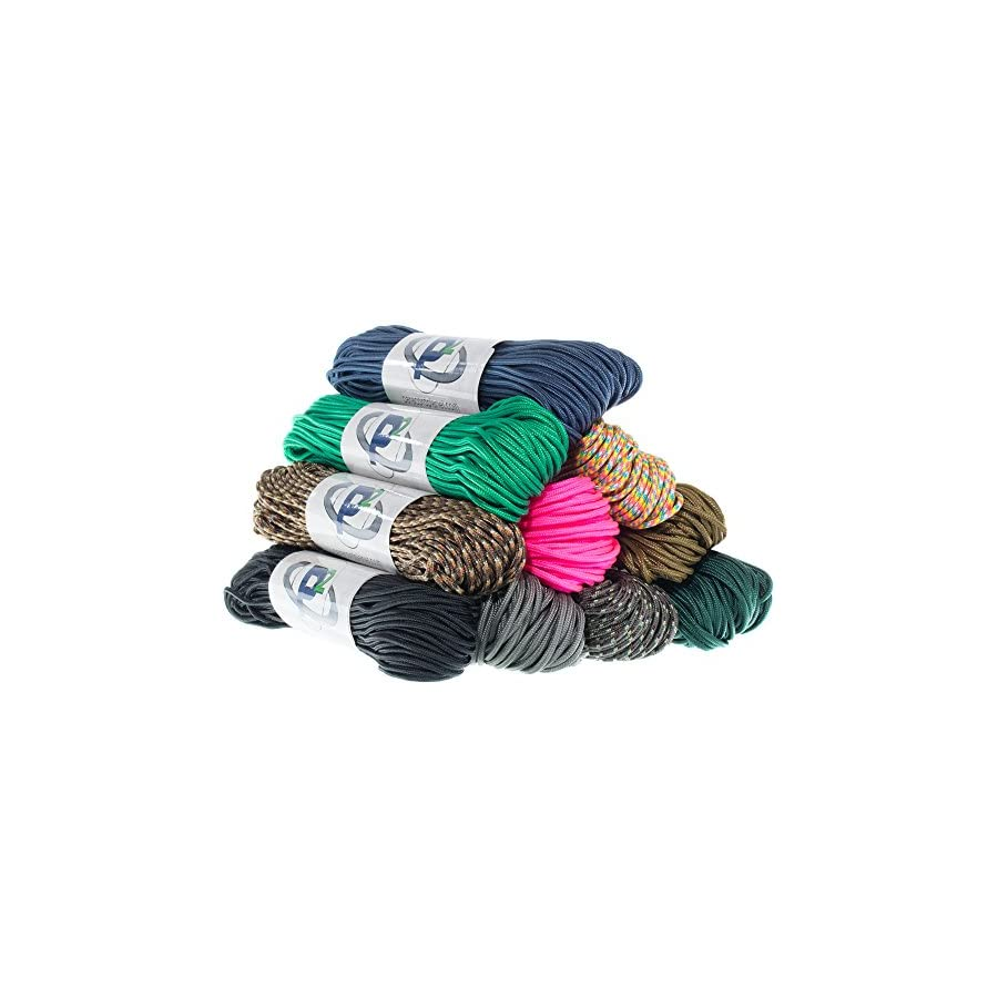 """PARACORD PLANET Tactical 5 Strand Nylon Core 275 LB Tensile Strength Paracord Rope 3/32"""" (2.38mm Diameter)"""