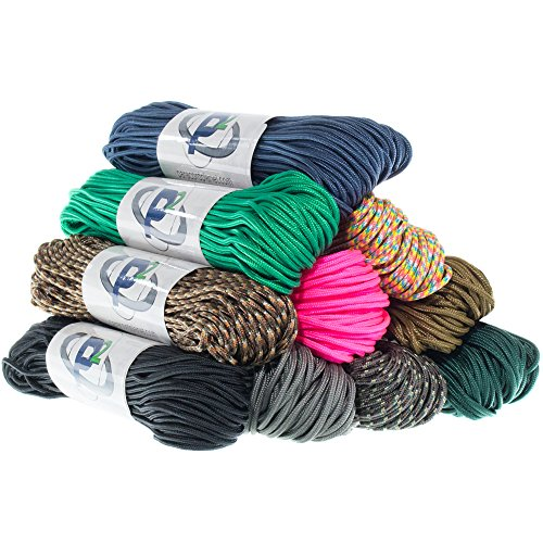 "Paracord Planet Tactical 5 Strand Nylon Core 275 LB Tensile Strength Paracord Rope 3/32"" (2.38mm Diameter)"