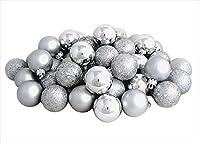 "96ct Shatterproof Silver Splendor 4-Finish Christmas Ball Ornaments 1.5"" (40mm)"