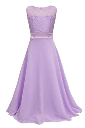 YMING Womens Chiffon Speaker Sleeve with Bow Casual Dress (130, LIGHT PURPLE)
