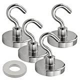 4 pcs Magnetic Hooks, 44 lbs Magnetic Hooks Heavy Duty Magnets Great for Hang and Add Storage Powerful Heavy Duty Neodymium Magnet